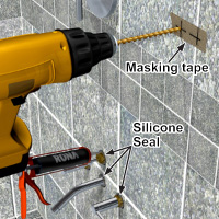 Drilling into tile