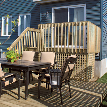 Build a one level deck 1 rona - Construire une terrasse en bois ...