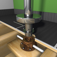 Install the exterior sections of the single-riser-faucet.