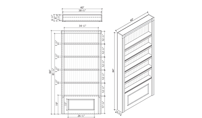 China cabinet Elevation plan