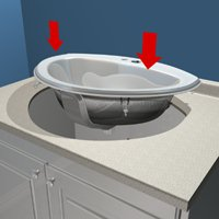 Install A Drop In Bathroom Sink 1 Rona