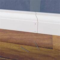 Splice two baseboards with a scarf joint