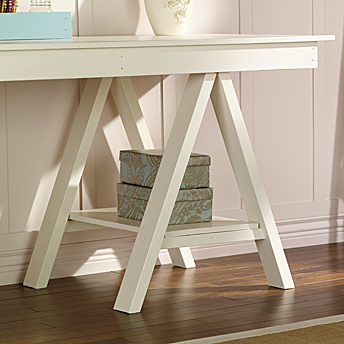 Art trestle table support