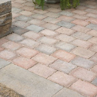 Modular pavers are produced in various colours and shades.