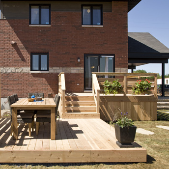 Outdoor structures (deck, shed, garage and pavers)