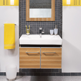 Contemporary wall mount vanity