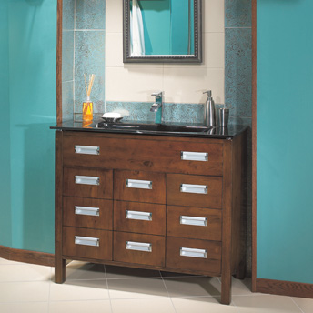 Basin vanity with drawers
