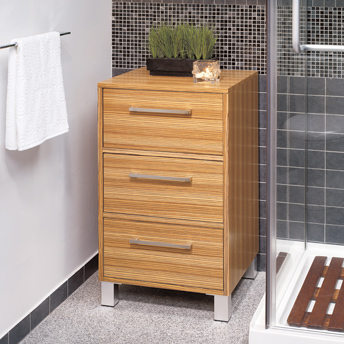 Chest with three wooden drawers