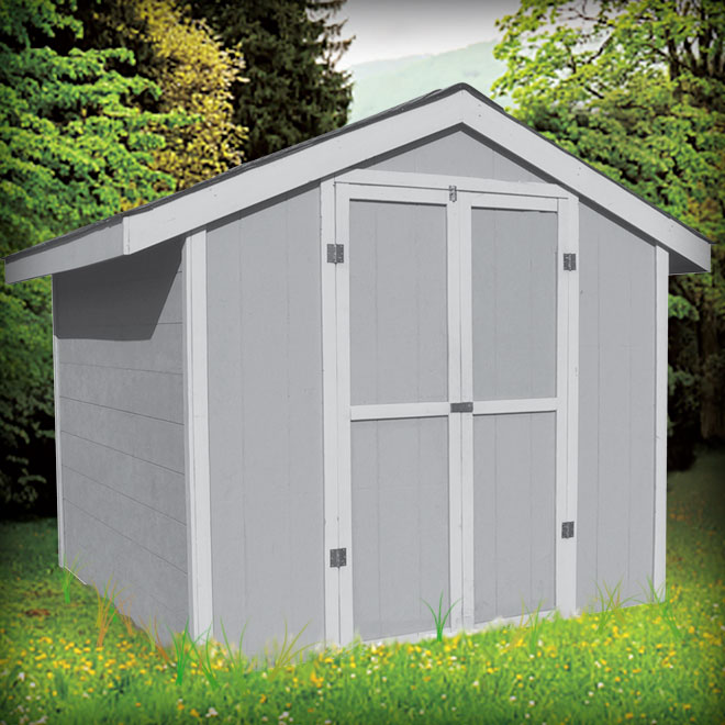 Shed packages how to build your own shed rona diy packages for Rona garage plans