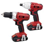 Cordless Drill and Driver Set - 20 V - 2 Pieces