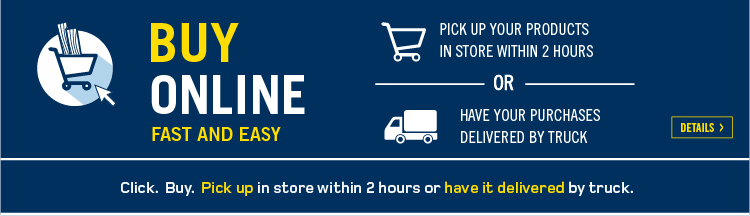 Click. Buy. Pick up in store. 1- Shop online; 2- We prepare your order, 3- Pick up in store at no extra cost