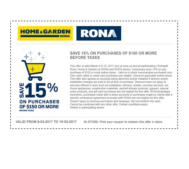 rona coupon code 2019