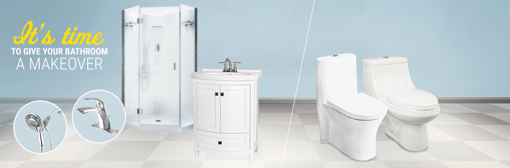 It's time to give your bathroom a makeover. Save on bathroom essentials and ALL dual flush toilets.