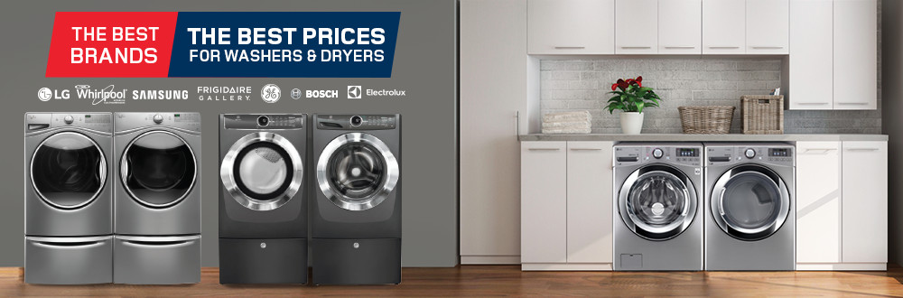 The best brands, the best prices for washers/dryers. Save on units for the laundry room.