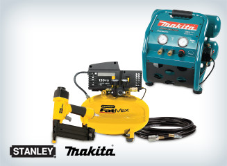 Save on ALL compressors and compressor/nailer combos