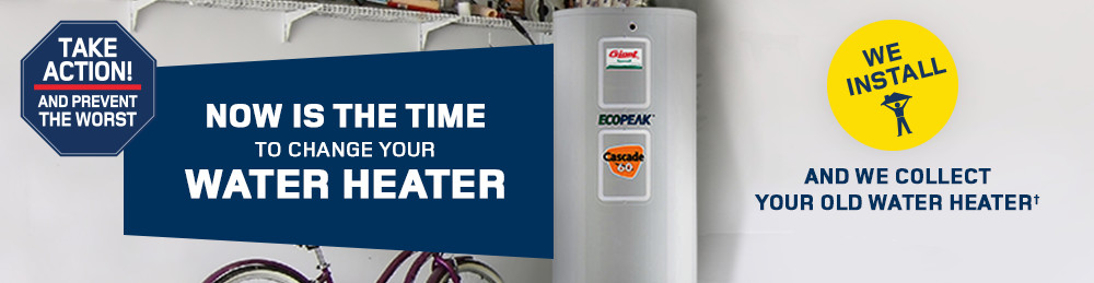 Now is the time to change your water heater! We install and we collect your old water heater.