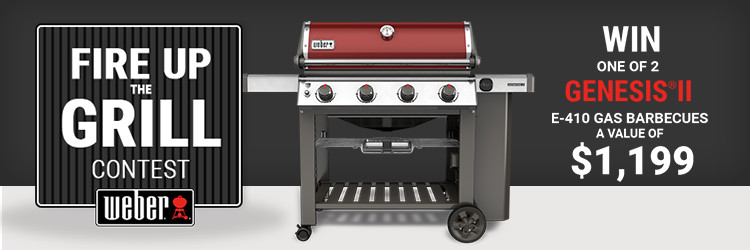 Win one of 2 genesis II E-410 gas barbecues a value of $ 1,199