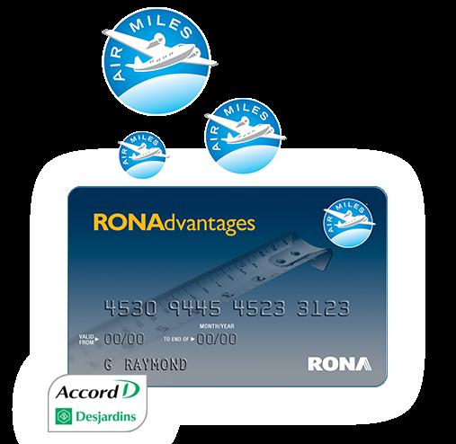 Carte Rona Accord D.Air Miles Reward Program Rona