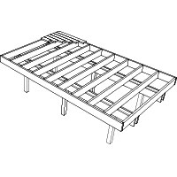 Deck packages how to build your own deck rona diy packages raised free standing deck malvernweather Images