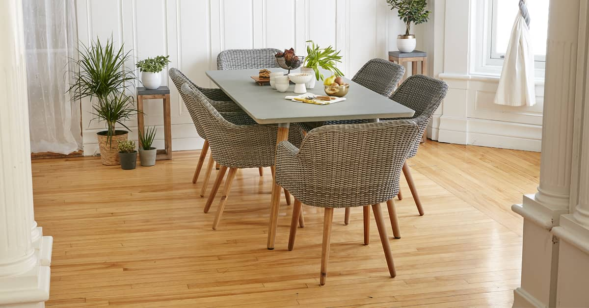 A <b>Scandinavian</b> dining room