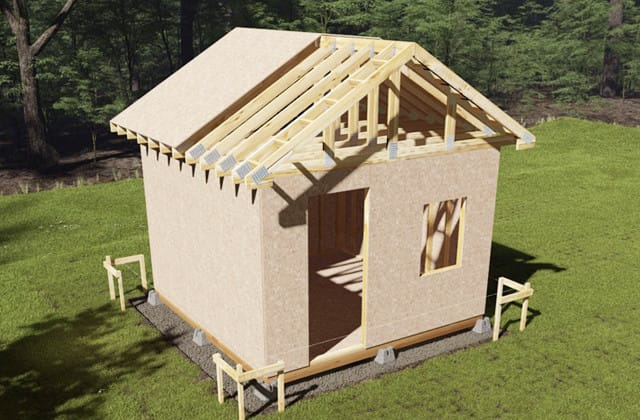 Build the roof - Build A Backyard Shed RONA