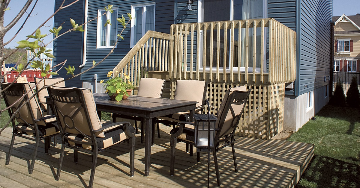 Build a one-level deck