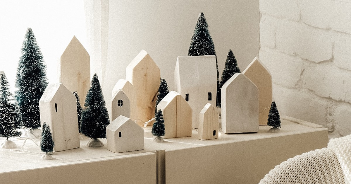 DIY Nordic Christmas village