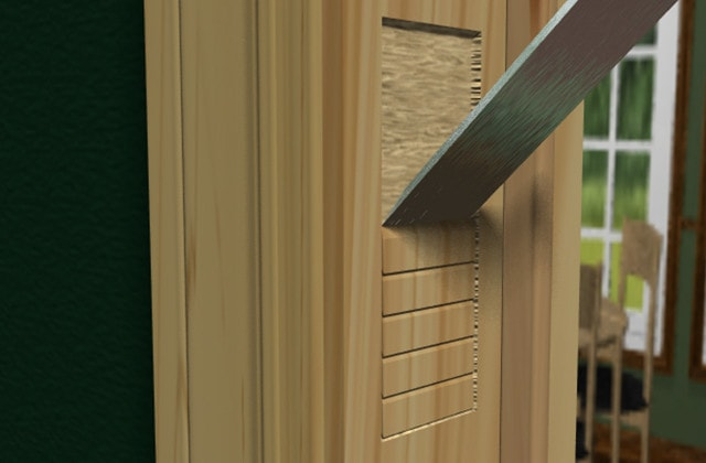 Install a handle and lockset for your exterior door