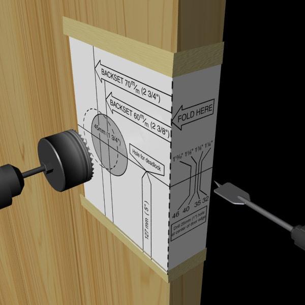 Installer une poign e ou une serrure de porte ext rieure soi m me - Canon de porte ...
