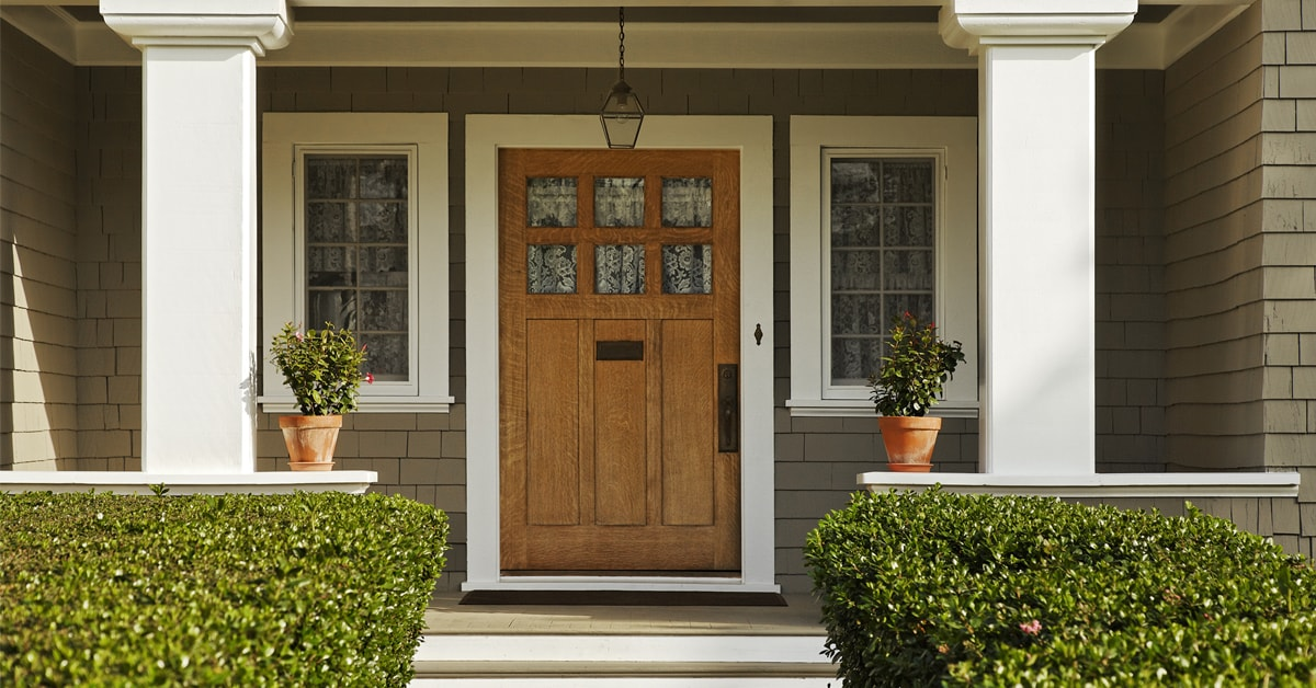Install a handle or lockset for the exterior door