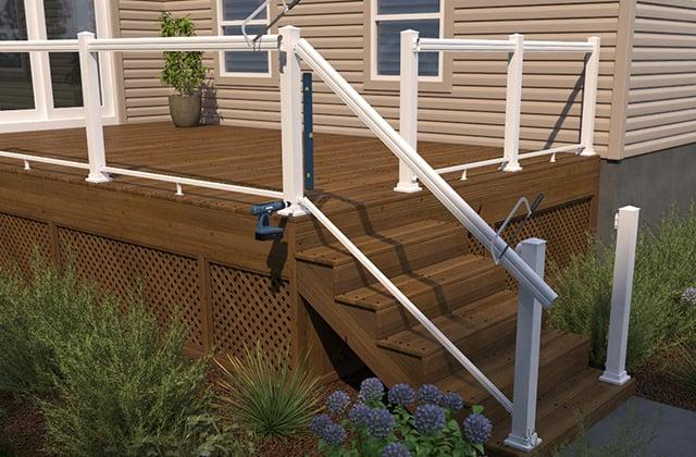 Install a glass panel railing   RONA