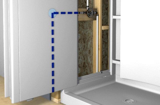 Installer Une Base De Douche Des Parois Murales Et Une Porte A Pivot Rona