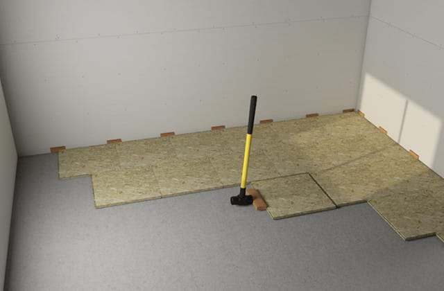 Install A Floating Subfloor In The Basement Rona