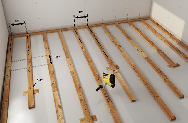 How To Install A Wood Subfloor Over Concrete Rona