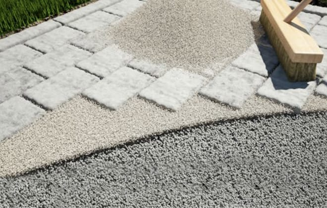 Create a paved area with concrete pavers or slabs | RONA