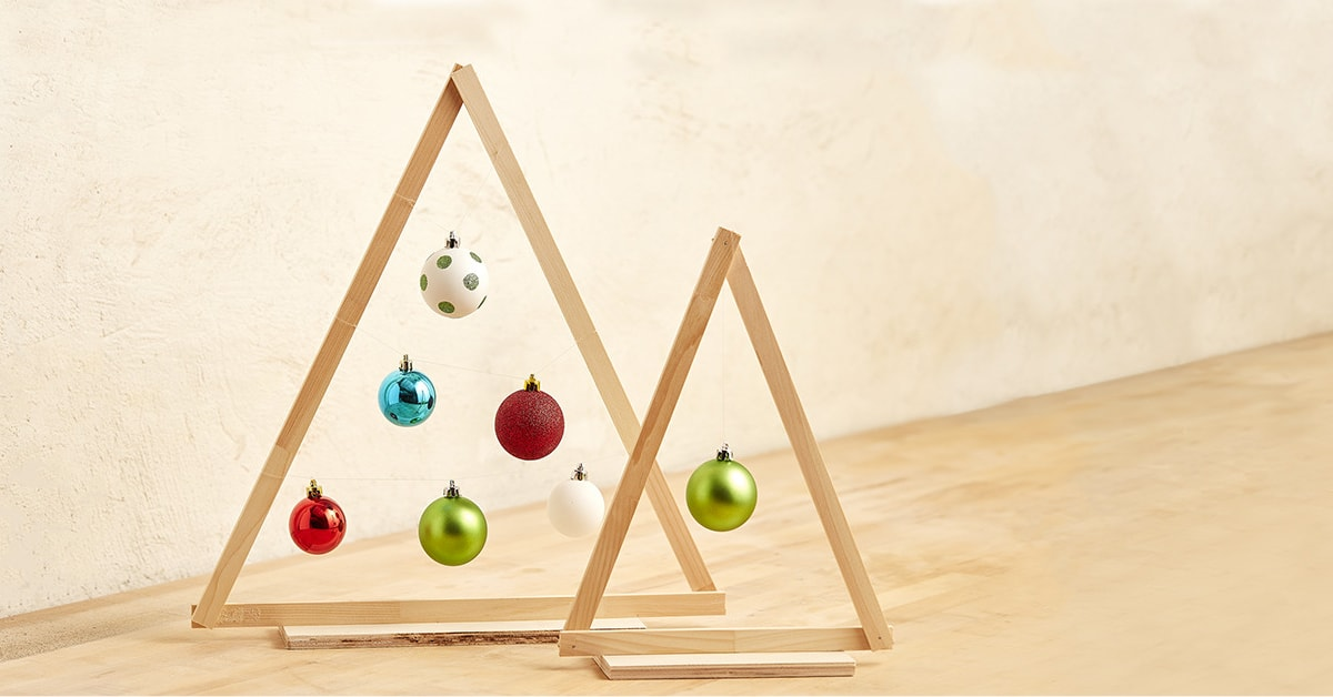 How To Build A Wooden Christmas Tree For Less Than Five Dollars Rona