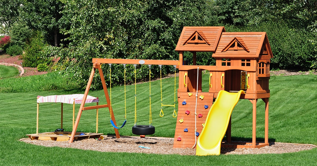 Image of: Planning The Construction Of A Kids Playground Structure Rona