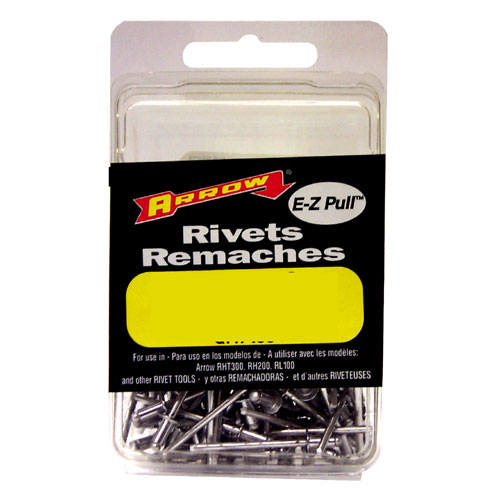 Short White Aluminum 1/8'' Rivets