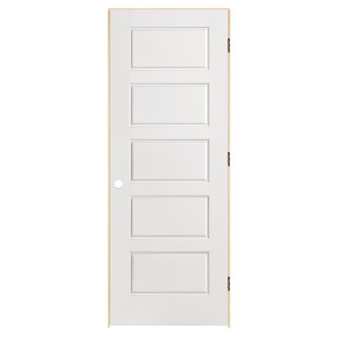 Porte pr mont e 5 panneaux riverside 36 39 39 x 80 for Porte 5 panneaux