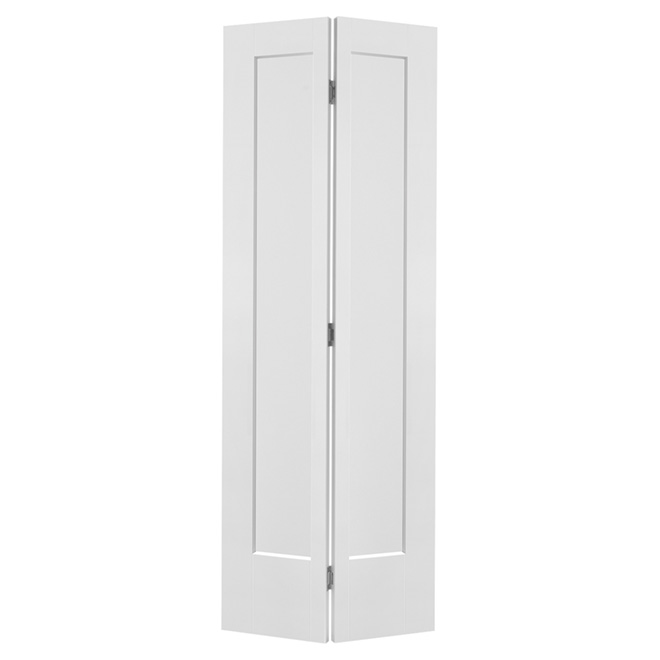 "Lincoln Park 1 Panel Bifold Door - Primed - 36"" x 80"""
