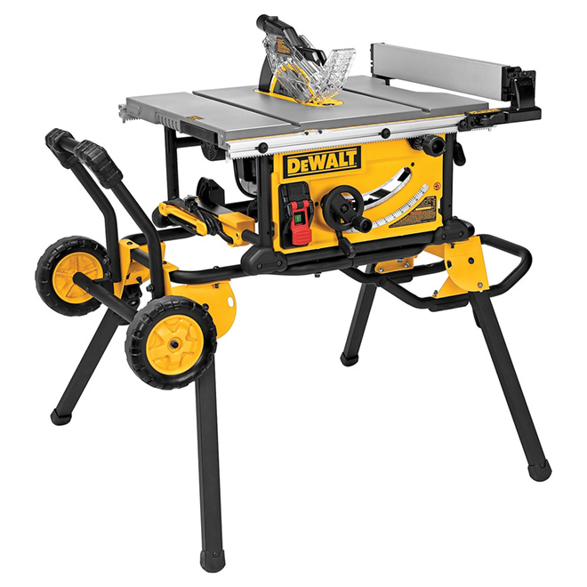 "Table Saw with Rolling Stand - 10"" - 15 A"