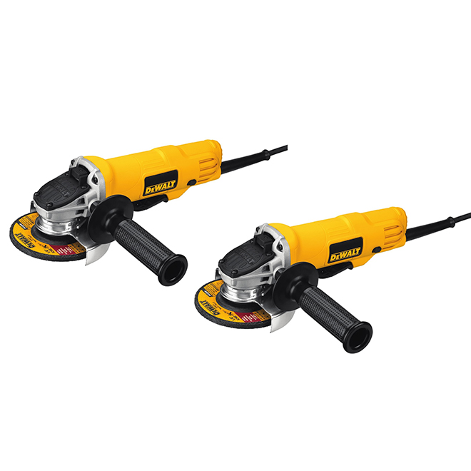 "Small Angle Grinder - 4 1/2"" - 7.5 A - Set of 2"