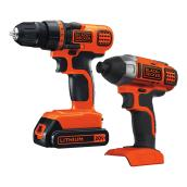 20V MAX Lithium Ion Drill/Driver and Impact Combo Kit