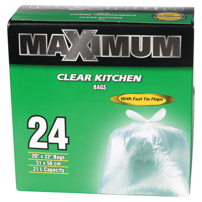 Clear Garbage Bags - Box of 24