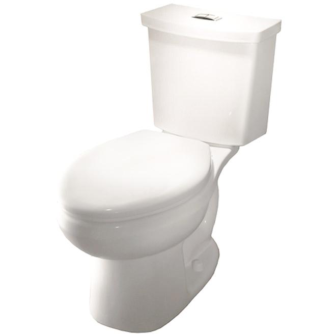 Elongated Front 2 Piece Toilet 3 8 L 6 L White Rona