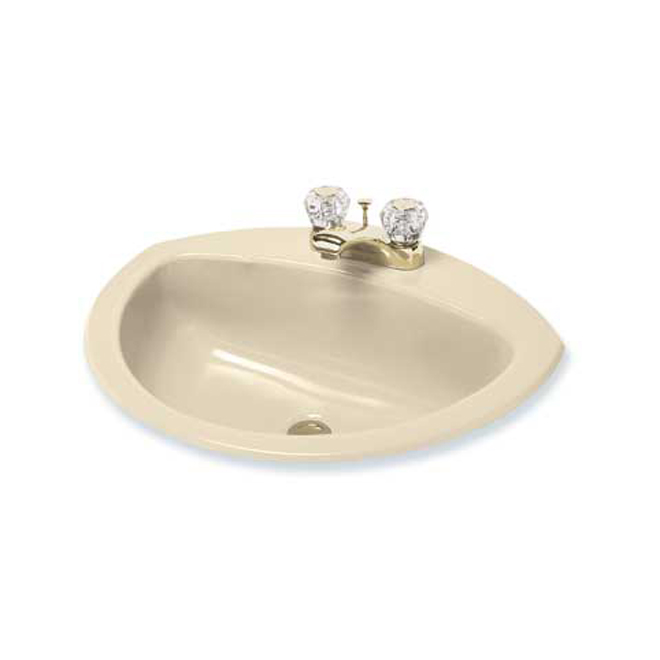 """Coronette"" Built-In Lavatory Basin - 21"" x 17"" - Bone"