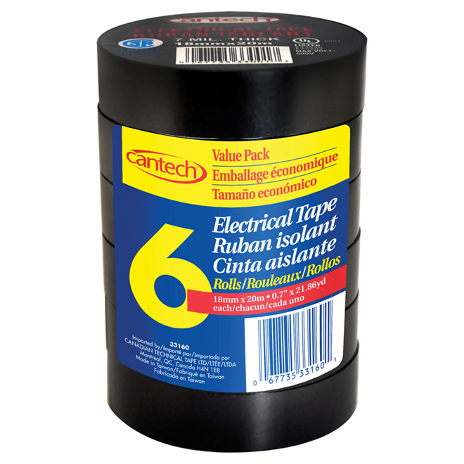 Electrical Tape - Pack of 6