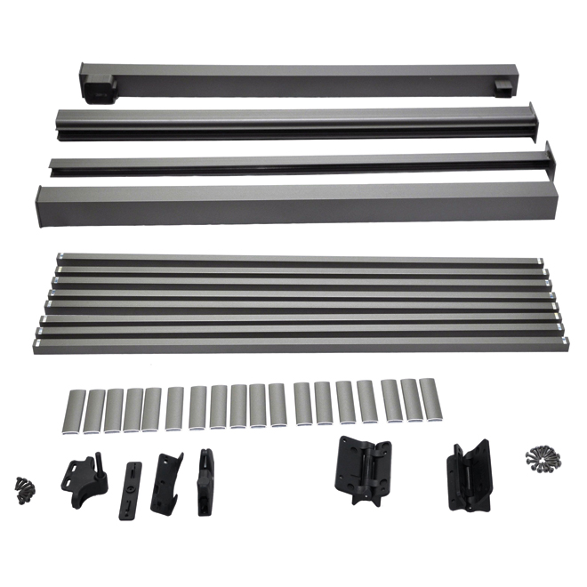 Aluminum Gate Picket Railing - 5'' - Titanium Grey