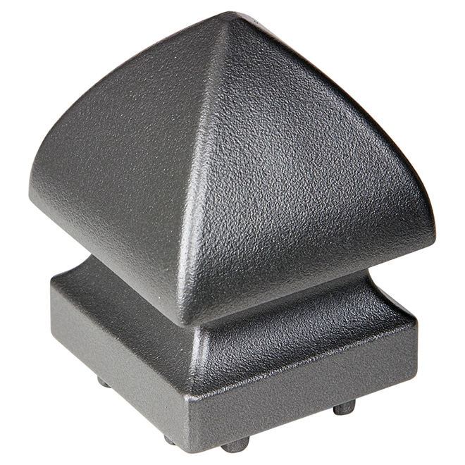 Pyramid Railing Post Cap - Aluminum - Titanium Grey