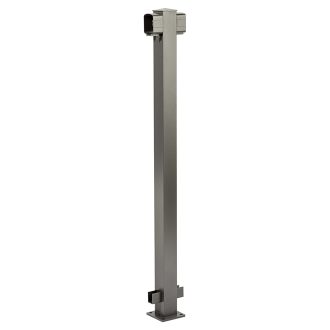 Railing Line Post - 4'' x 4'' x 42'' - Titanium Grey